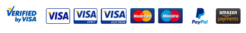 We take Visa, Visa Debit, Visa Electron, Mastercard, Maestro and Solo